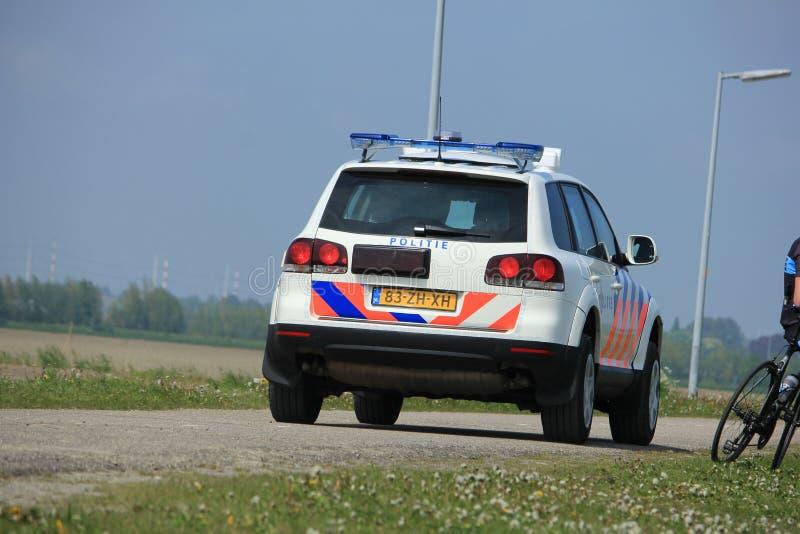 Amsterdam, Paesi Bassi: 6 maggio 2017: Volante della polizia olandese immagine stock
