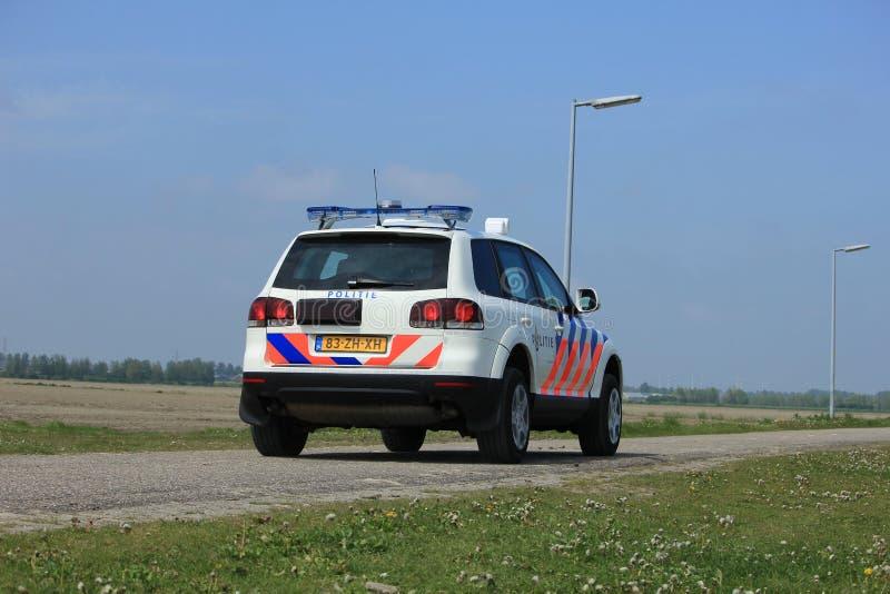Amsterdam, Paesi Bassi: 6 maggio 2017: Volante della polizia olandese immagini stock