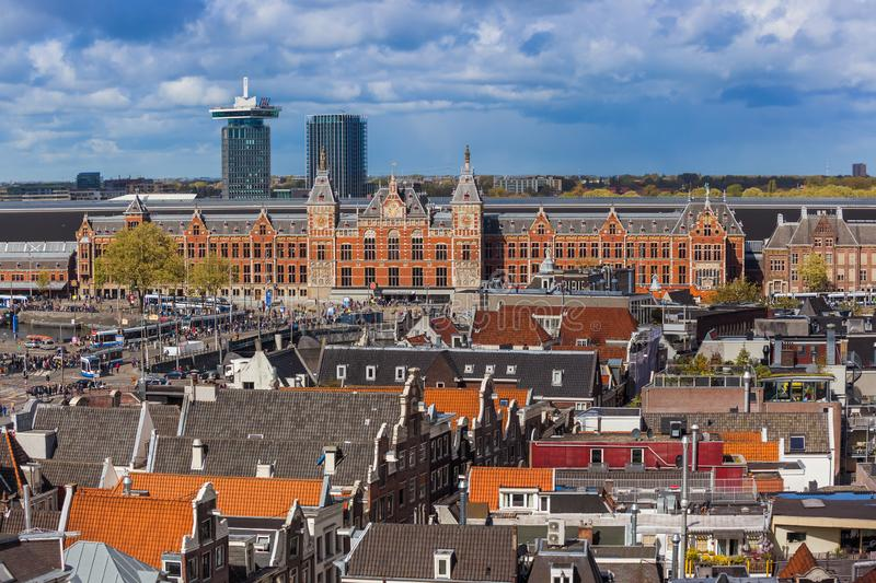 AMSTERDAM PAYS-BAS - 25 AVRIL 2017 : Secteur central le 25 avril 2017 ? Amsterdam Pays-Bas image stock
