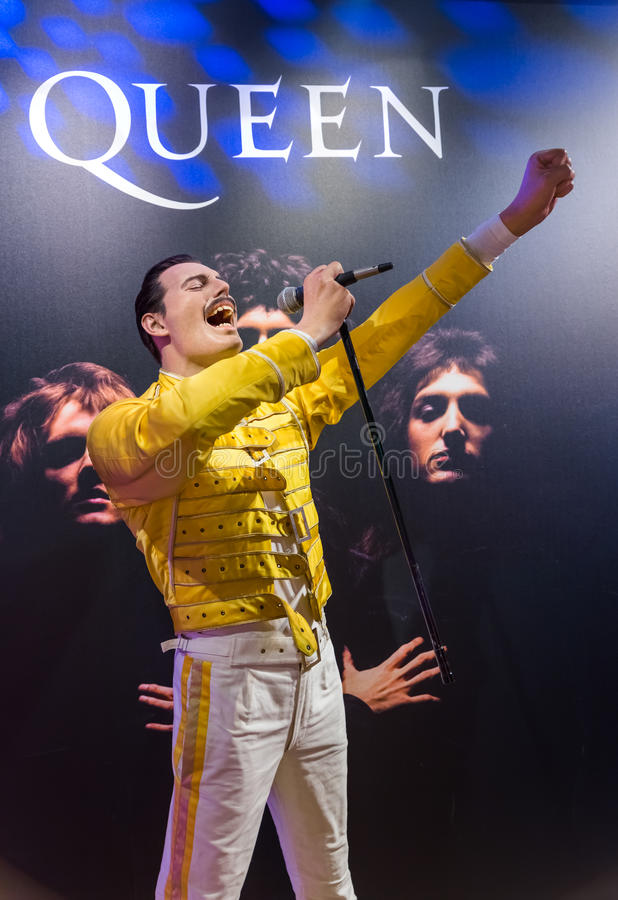 AMSTERDAM, PAYS-BAS - 25 AVRIL 2017 : Sta de cire de Freddie Mercury photographie stock