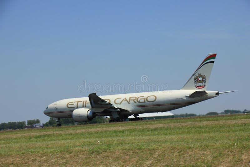 Amsterdam, Pays-Bas - 12 juin 2015 : A6-DDB Etihad Airways photos stock