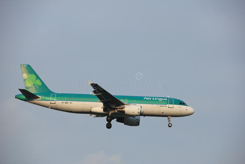 Amsterdam, Pays-Bas - 22 juin 2017 : EI-DEC Aer Lingus Airbus A320 images stock