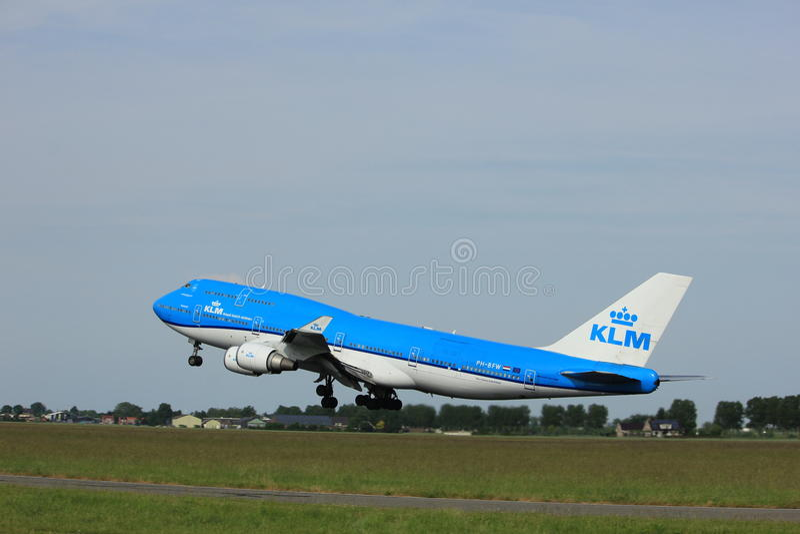 Amsterdam, Pays-Bas - 2 juin 2017 : PH-BFW KLM 747-400M images stock