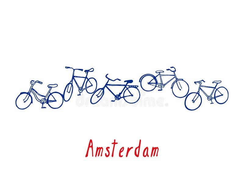Amsterdam-Plakatillustration lizenzfreie abbildung