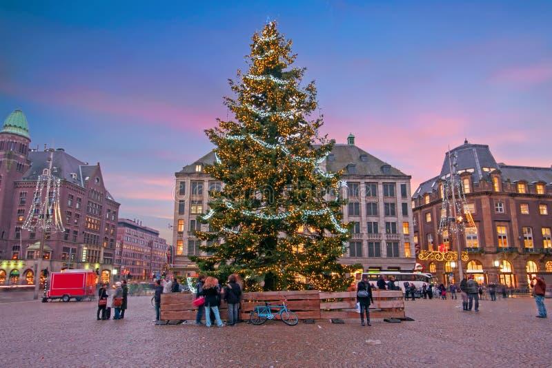 Amsterdam przy boże narodzenie czasem w holandiach obrazy royalty free