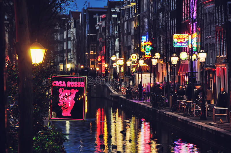 Amsterdam Red Lights District stock images