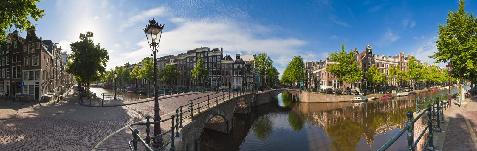 Amsterdam reflections, Holland stock image