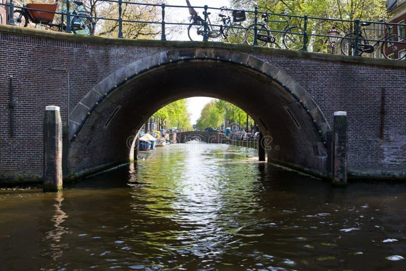 Amsterdam Reguliersgracht seven bridges stock photos