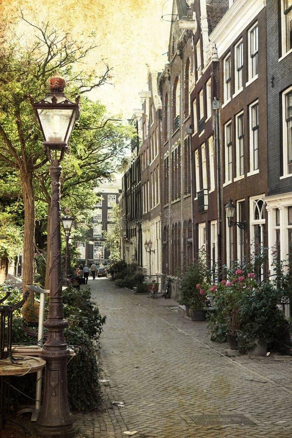 Amsterdam retra fotografía de archivo