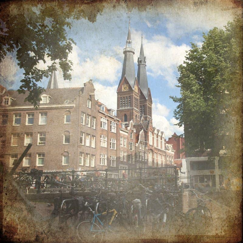 Amsterdam retra imagen de archivo libre de regalías