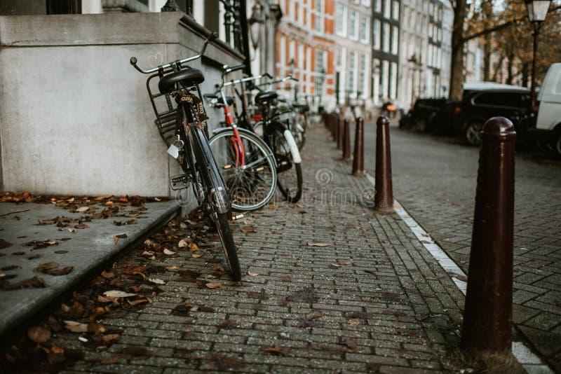 Amsterdam rowery fotografia royalty free