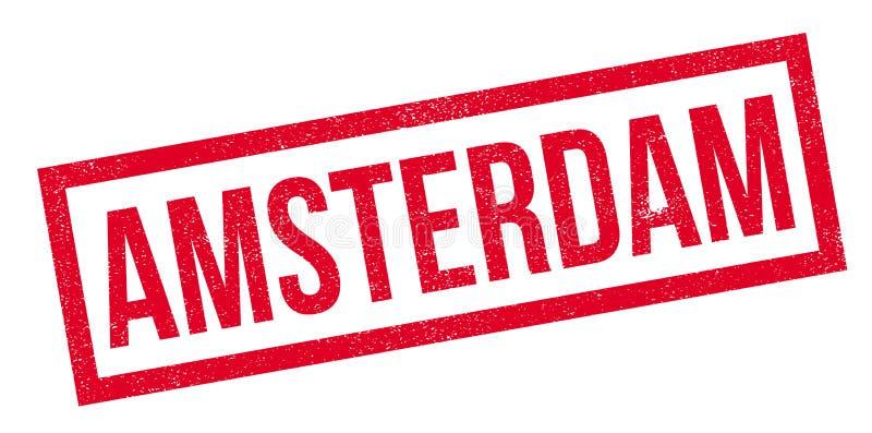 Amsterdam rubber stamp stock illustration