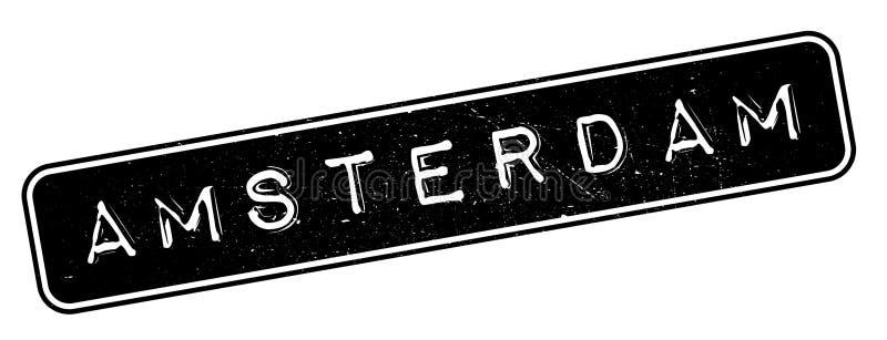 Amsterdam rubber stamp royalty free illustration