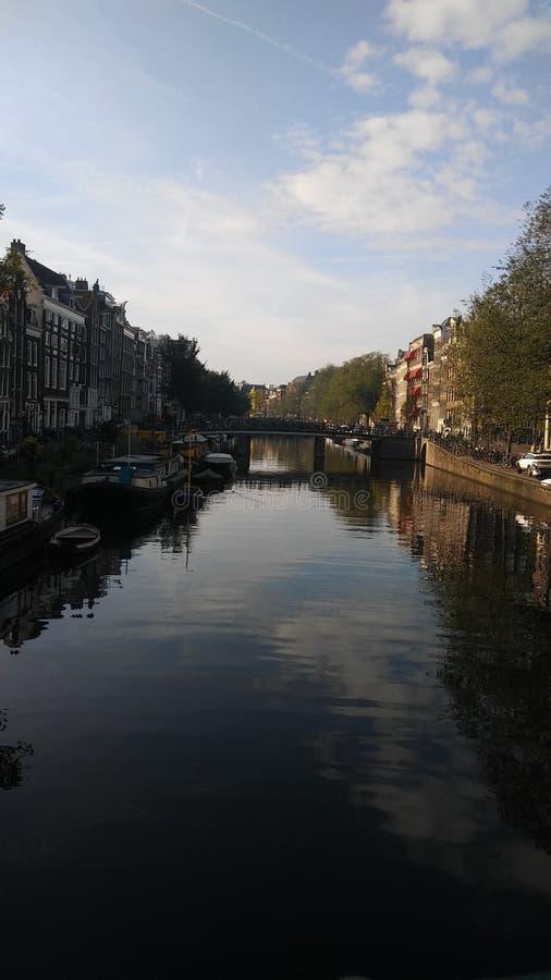 Amsterdam rzeki, meksykanin w Europe, jak xochimilco, Mexico fotografia royalty free