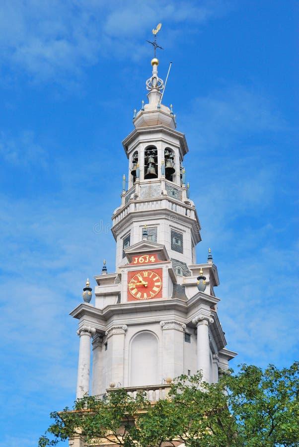 Amsterdam södra kyrka royaltyfri bild