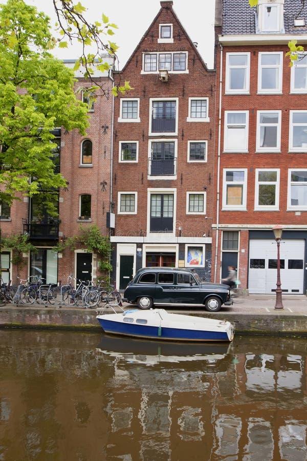 Amsterdam schetsen stock afbeeldingen