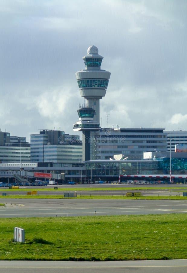 Amsterdam Schipol Airport. A view from an aircraft taking off at Amsterdam Schipol Airport stock photos