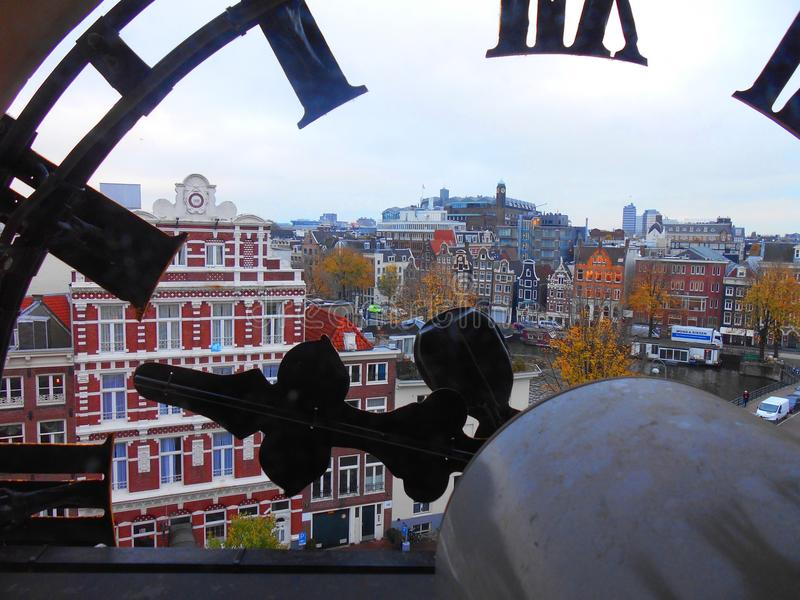 Amsterdam sikt arkivbild
