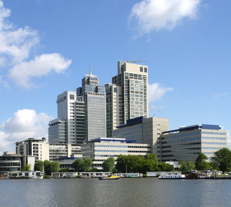 Amsterdam skyline royalty free stock photos