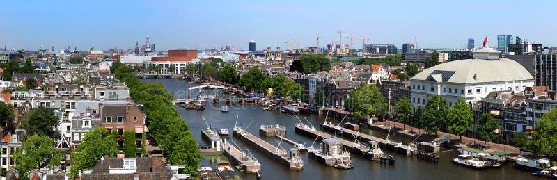 Amsterdam skyline stock images