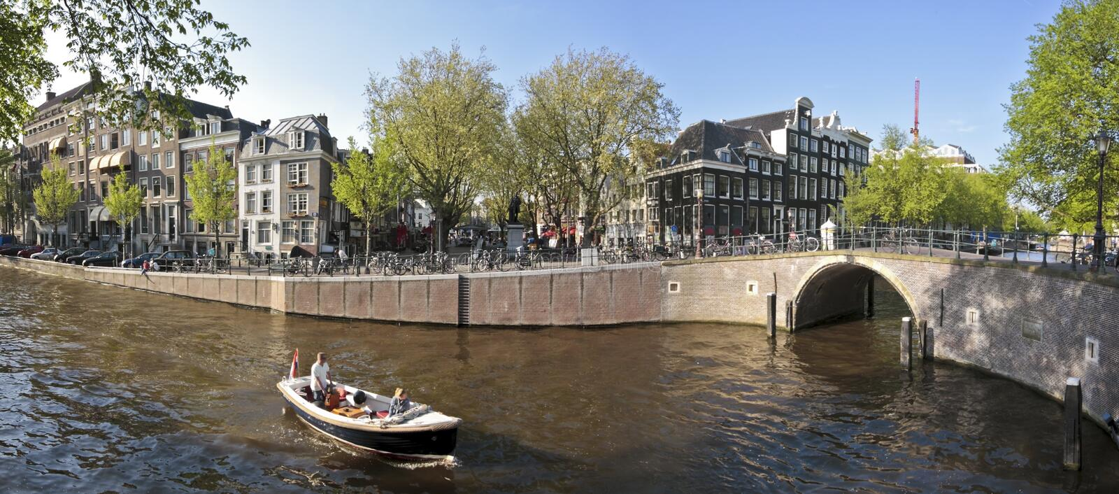 Amsterdam Spui In The Netherlands Stock Photos