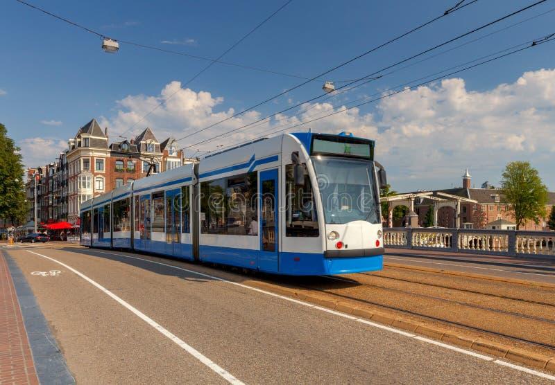 amsterdam Stadttram stockbild