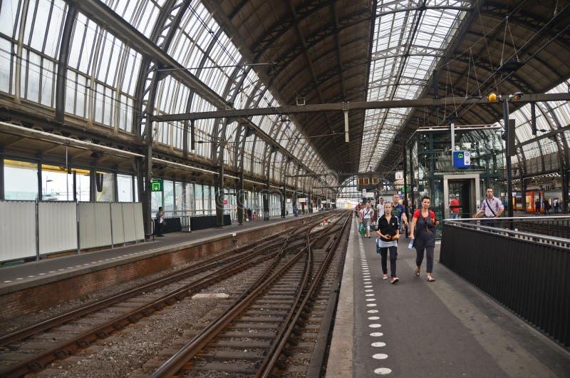 Amsterdam station stock image
