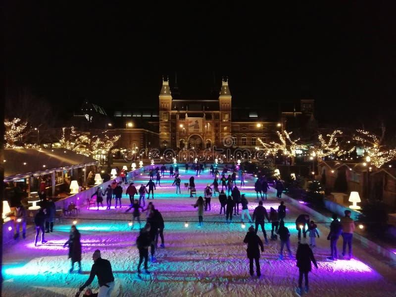 Amsterdam su ghiaccio immagine stock libera da diritti