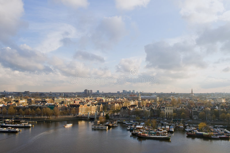 Amsterdam sunlight stock photo