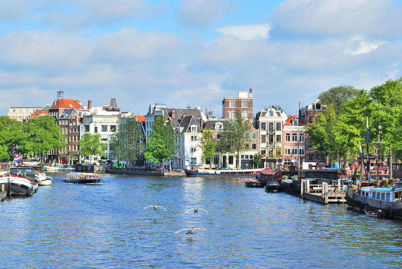 Amsterdam in a sunny summer day royalty free stock image