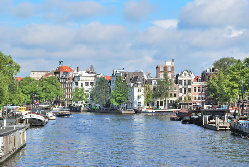 Amsterdam in a sunny summer day stock images