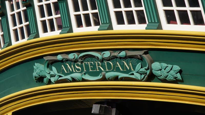 Amsterdam sur le bateau de COV photographie stock