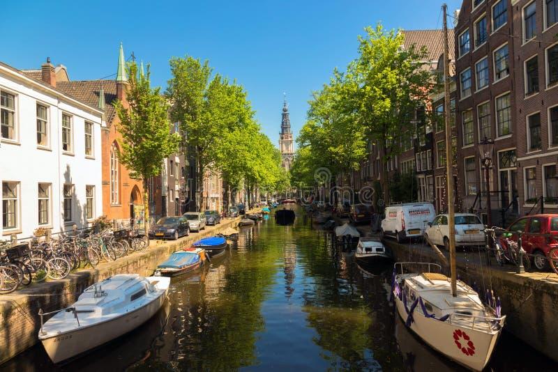 amsterdam Typowy miastowy holendera krajobraz obraz royalty free