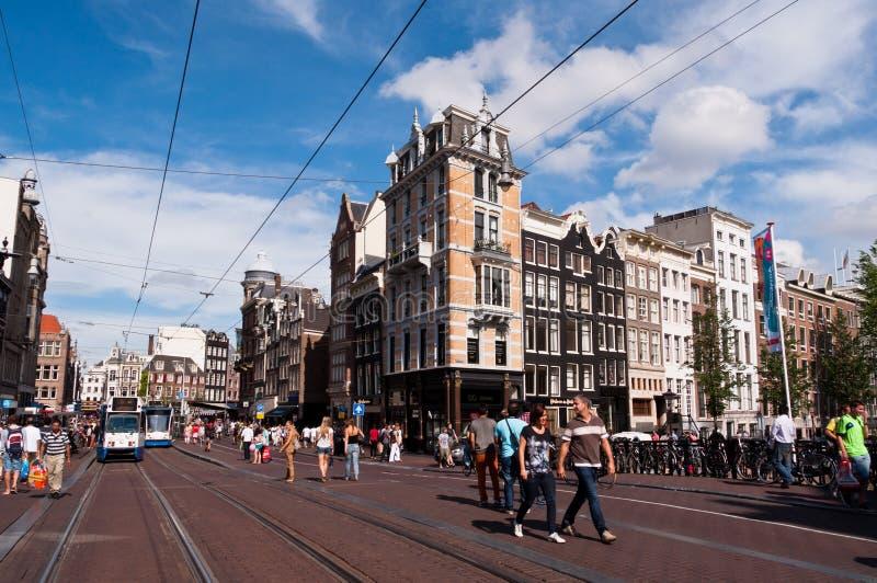 Amsterdam ulica zdjęcia royalty free