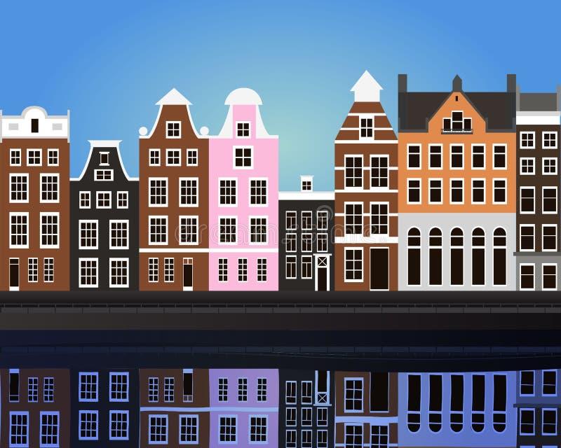 Amsterdam. Vector illustration of Amsterdam eps 10 stock illustration