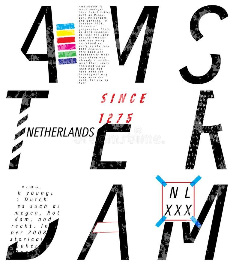 Amsterdam vector poster graphic design. Fashion style vector illustration