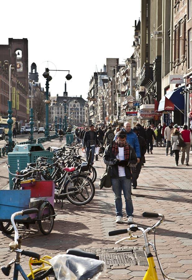 Amsterdam: Verdammungs-Straße lizenzfreie stockfotografie