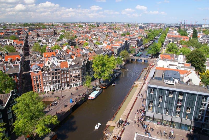 Amsterdam view stock photo