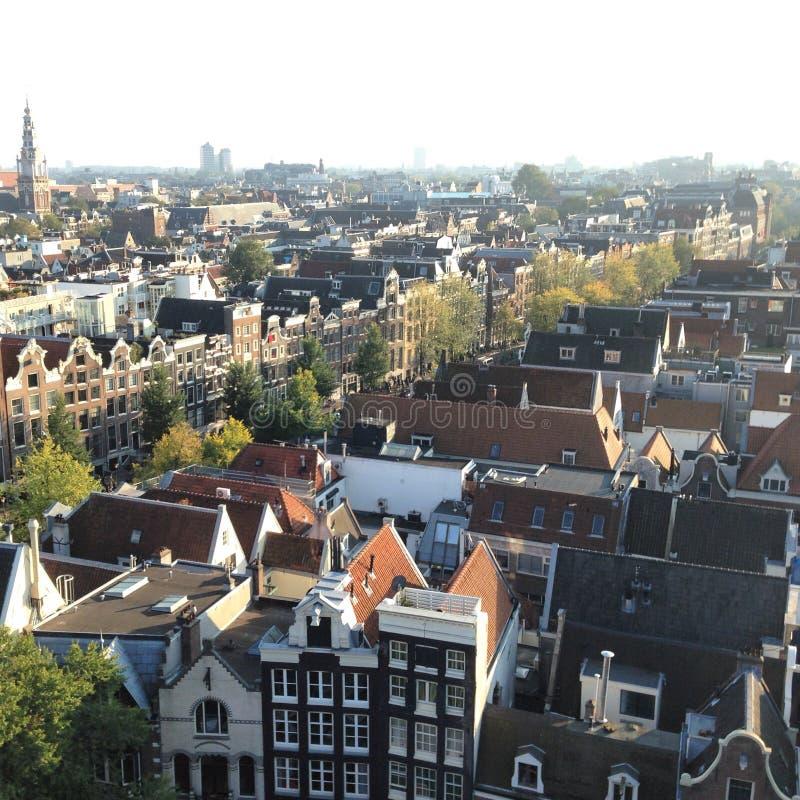 Amsterdam von der Spitze stockbild