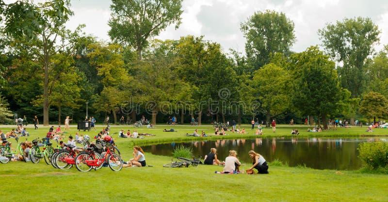 Amsterdam Vondelpark imagenes de archivo