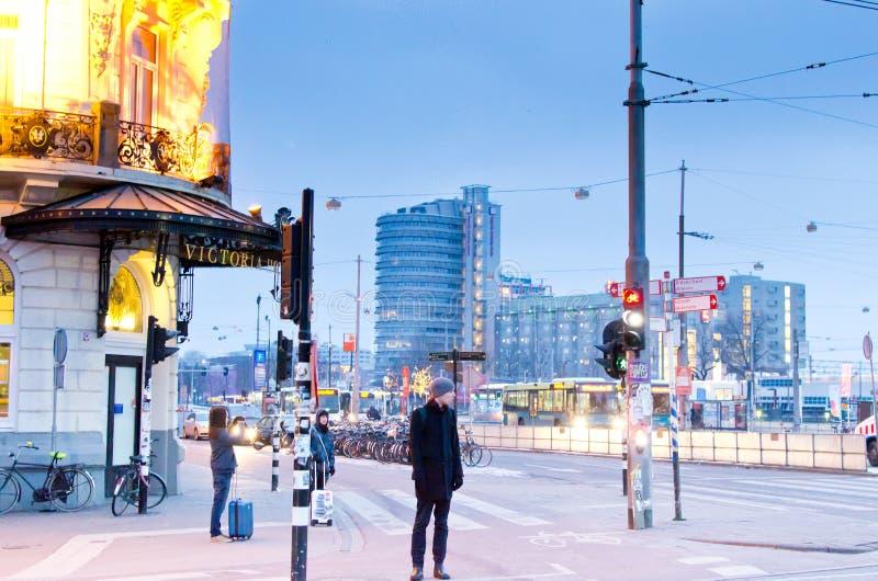 Amsterdam w ranku obraz royalty free