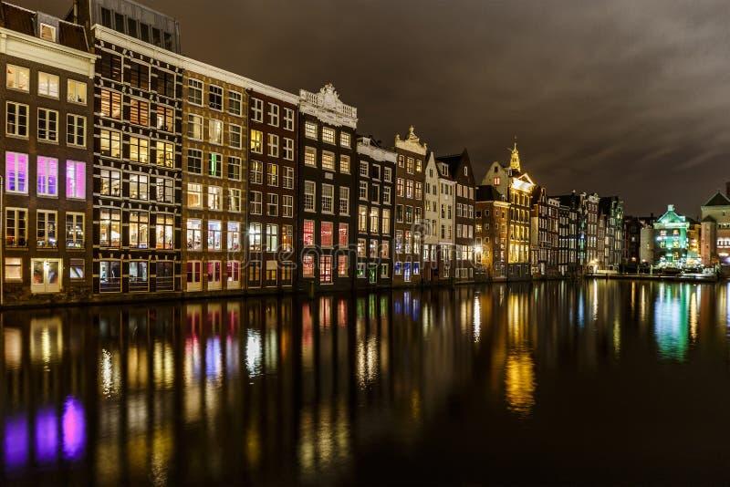Amsterdam water reflection royalty free stock photo