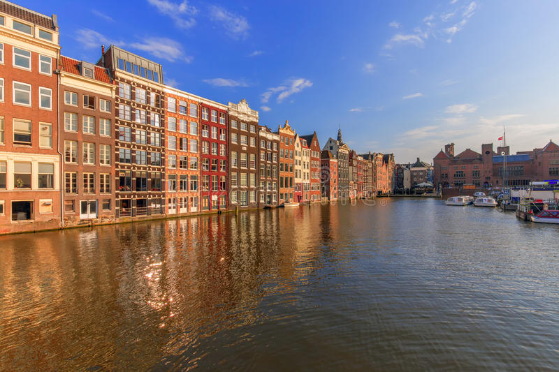 Amsterdam water reflection royalty free stock images