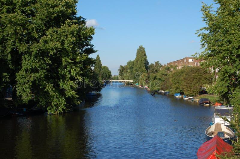amsterdam waterway royaltyfria bilder