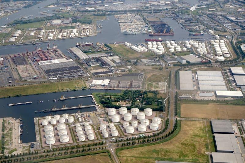 Amsterdam Westpoort przemysłowy teren w holandiach zdjęcie stock
