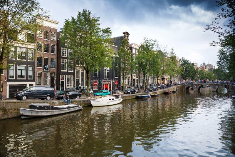 Amsterdam widok obrazy royalty free