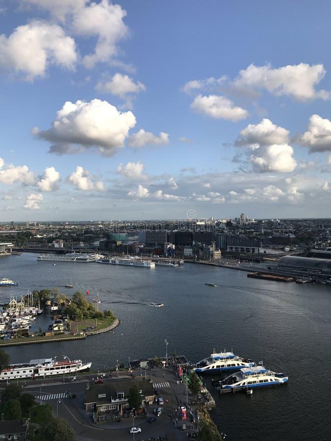 Amsterdam widok od Adam wierza zdjęcie royalty free