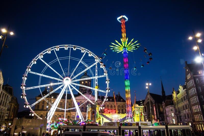 Amsterdam zabawy jarmark obrazy royalty free