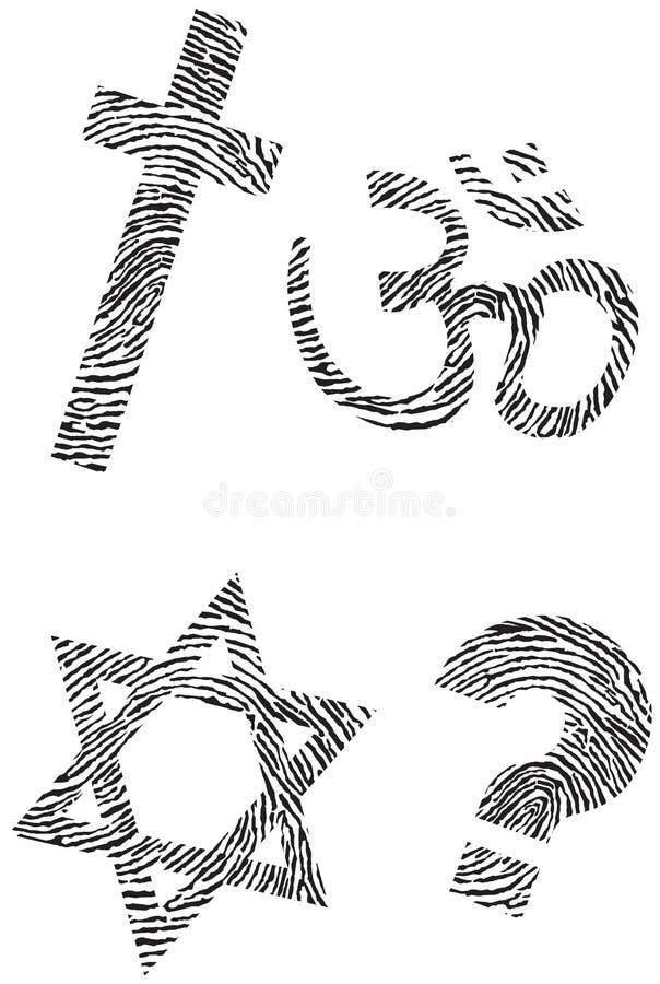 Amtliche Religion und Fingerabdruck stock abbildung