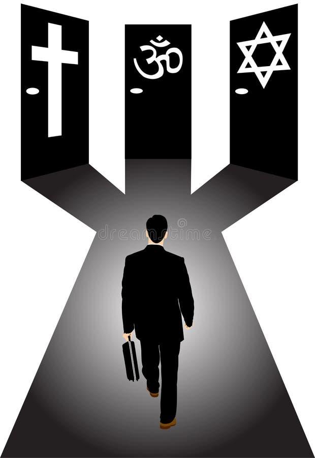 Amtliche Religion und Geschäftsmann vektor abbildung